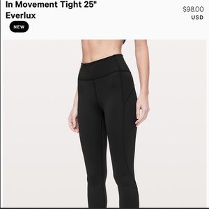 Lululemon In the Movement Tight